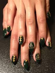 nail art by jessica tong dark green for holiday