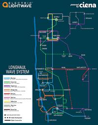 Ddos Map Electric Lightwave Fiber Optic Network Network Map