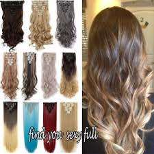 ombre hair extensions uk uk women ombre clip in hair extensions 8 pieces