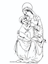 mother mary coloring pages