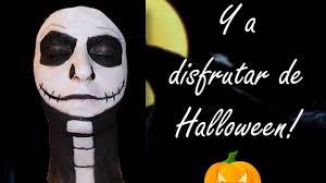 maquillaje halloween jack skelliton tim burton makeup youtube