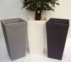 Tall Plastic Planters by Potatank Stylish Self Watering Series Of Feature Urns For The
