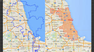 Blue Line Chicago Map by So Exactly How Much Bigger Is La U0027s Land Area Over Chicago U0027s Over