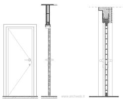 archweb porte porte in sezione verticale