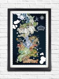 Full World Map Game Of Thrones by Game Of Thrones Westeros Map 19x13 Poster
