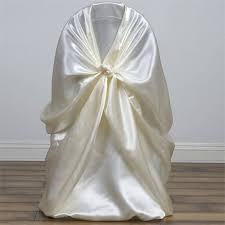 satin chair covers ivory universal satin chair covers efavormart
