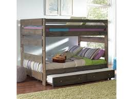 Bunk Bed With Crib On Bottom by Coaster Wrangle Hill Full Over Full Bunk Bed With Pull Out Trundle