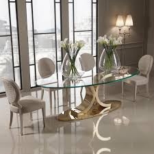 gold dining table set designer 24 carat gold plated oval glass dining table juliettes