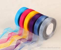 organza ribbon 2018 wholesales 3 4 inch 20mm 2cm organza ribbon sheer transparent
