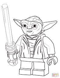 lego star wars master yoda coloring page free printable coloring