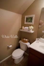 half bath makeover white walls