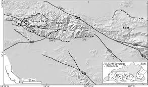 San Gabriel Map The Role Of Waterfalls And Knickzones In Controlling The Style And