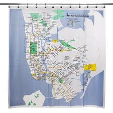 Shower Curtain Map Mta New York City Subway Map Vinyl Shower Curtain Bed Bath U0026 Beyond