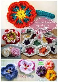 Crochet Designs Flowers 260 Best Crochet Flowers Images On Pinterest Crocheted Flowers