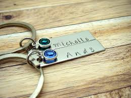 Personalized Birthstone Keychains 205 Best Products Images On Pinterest Keychains Hand Stamped