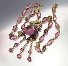 glass necklace images Vintage amethyst art deco czech glass necklace boylerpf jpg