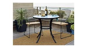 crate and barrel bistro table mosaic blue bistro table crate and barrel sd living pinterest