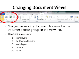 layout view zoom lesson 4 revising the document layout microsoft word ppt download