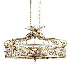Antique Chandeliers Eurofase Dahlia Collection 6 Light Antique Gold Chandelier 14455