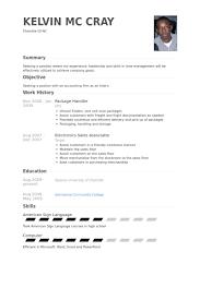 Sample Resume For Material Handler by Package Handler Resume Samples Visualcv Resume Samples Database