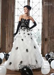 wedding dress not white new arrival black and white wedding dresses sweetheart flower sash