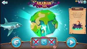 Hungry Shark Map Hungry Shark World Exploring New Map Arabian Most Dangerous Sea