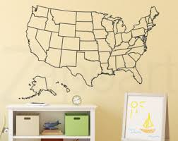 us map fill in usa map decal etsy