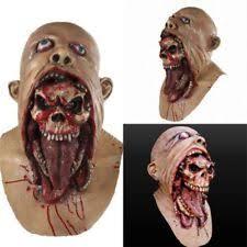 halloween bloody zombie face melting walking dead latex mask