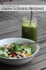 quinoa and raw veggie salad with green goddess dressing veggie mama