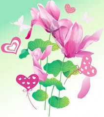 flowers background violet lotus and butterfly design free vector