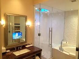 bathroom mirror tv diy vanishing vanity contemporary other