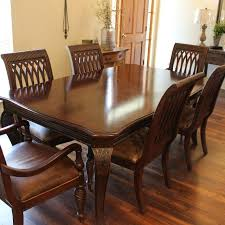 best bernhardt dining table with 2 leaves and 8 chairs for sale in