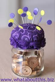 repurposing baby food jars diy pincushions what about this