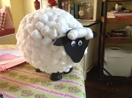paper mâché balloon sheep love this guy he is very fuzzy