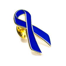 blue and gold ribbon blue lapel pin cure paralysis ribbon pin cure paralysis lapel