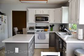 Spray Painting Kitchen Cabinets White Painting Kitchen Cabinets Grey And White Awsrx Com