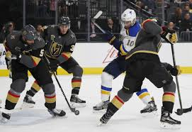 where do you put a st blues put on a show in vegas but fall in ot st louis blues
