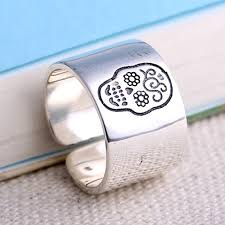 s sterling silver sugar skull wrap ring jewelry1000 com