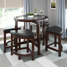 Round Dining Room Tables For 4 by Amazon Com Corliving Dbg 699 K Belgrove Dark Espresso Stained
