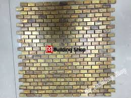 brick metal mosaic kitchen backsplash tiles smmt072 antiqued