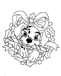 dalmation in stocking christmas coloring pages printable