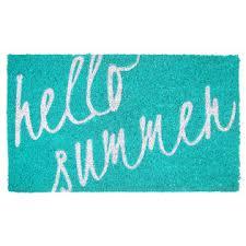 Summer Doormats Allure Hello Summer Coir Doormat Home Home Decor Rugs Doormats