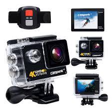 motocross helmet camera campark act73r 4k wifi waterproof sports action camera rf wrist