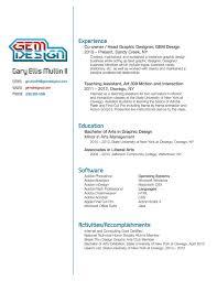 sample design resume graphic artist simple financial statement
