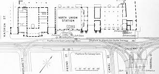 file plan of elevated and surface tracks at north station 1912