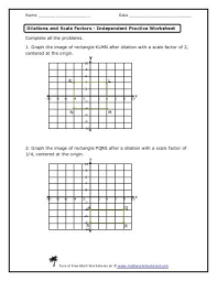 dilation worksheet fts e info