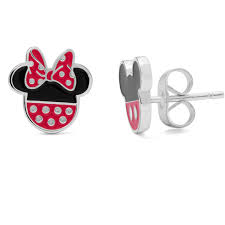 mickey mouse earrings disney sterling silver mickey and minnie mouse stud earrings