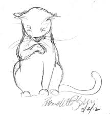 daily sketch purring points the creative cat
