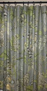 Grey And Green Curtains Floral Curtains Kaufmann Clarice Dove Curtain Panels Grey