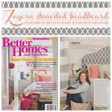 Better Homes Headboard by Better Homes U0026 Gardens Spotlights The Zagora Stenciled Headboard